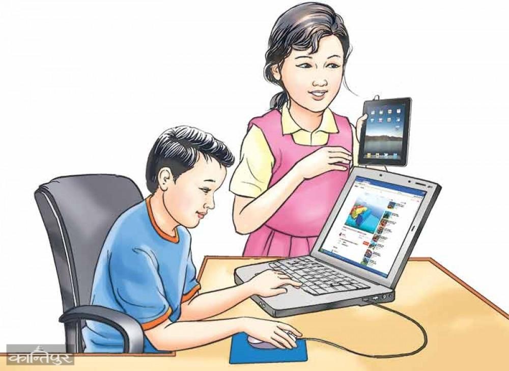 अनलाइन कक्षाप्रति रुचि छैन बालबालिको
