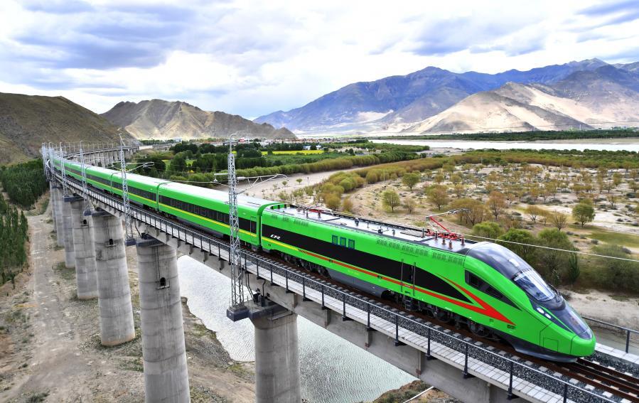 यस्तो छ तिब्बतको बुलेट ट्रेन (तस्विर सहित)