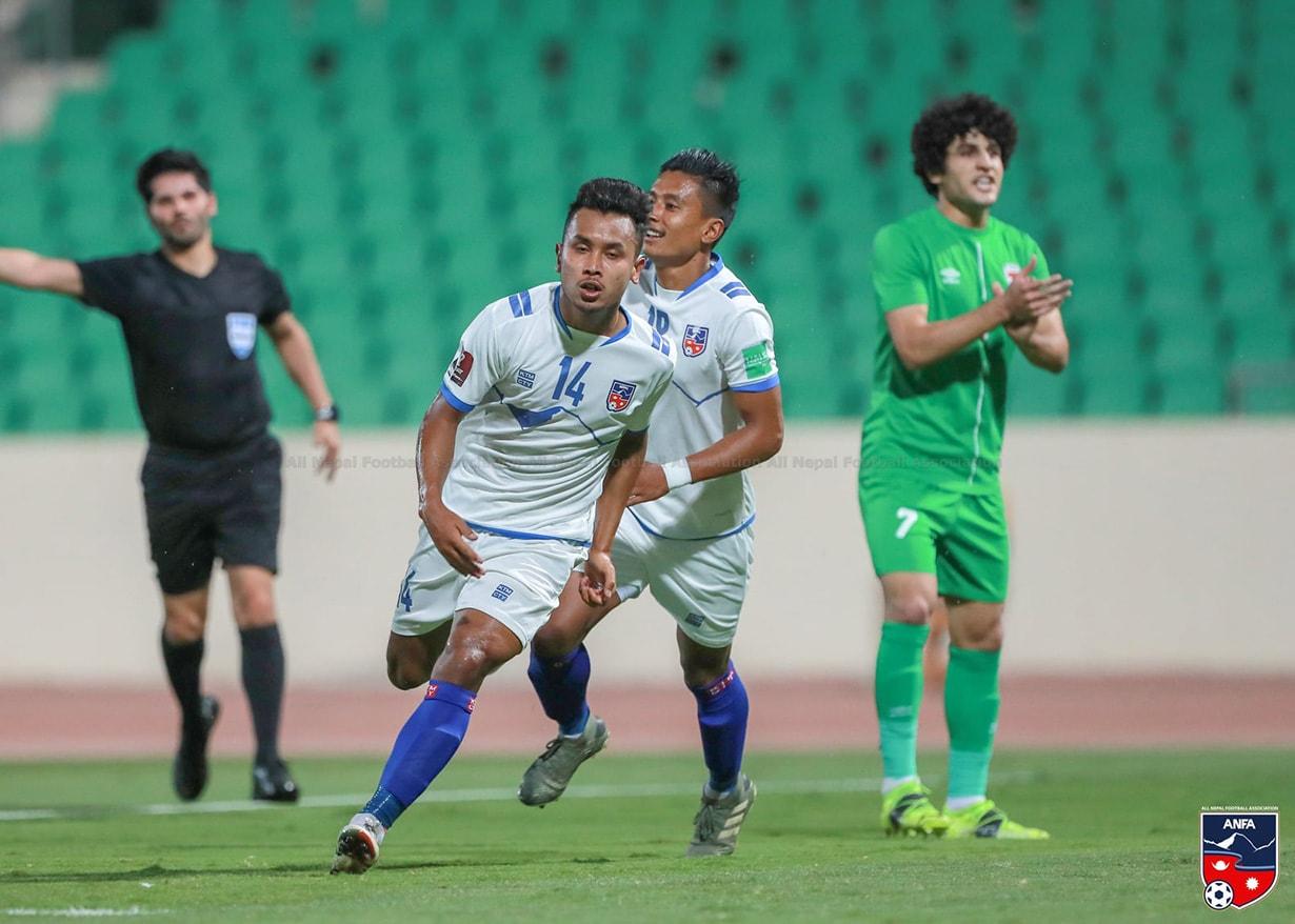 इराक विरुद्धको मैत्रीपूर्ण खेलमा नेपाल ६–२ ले पराजित