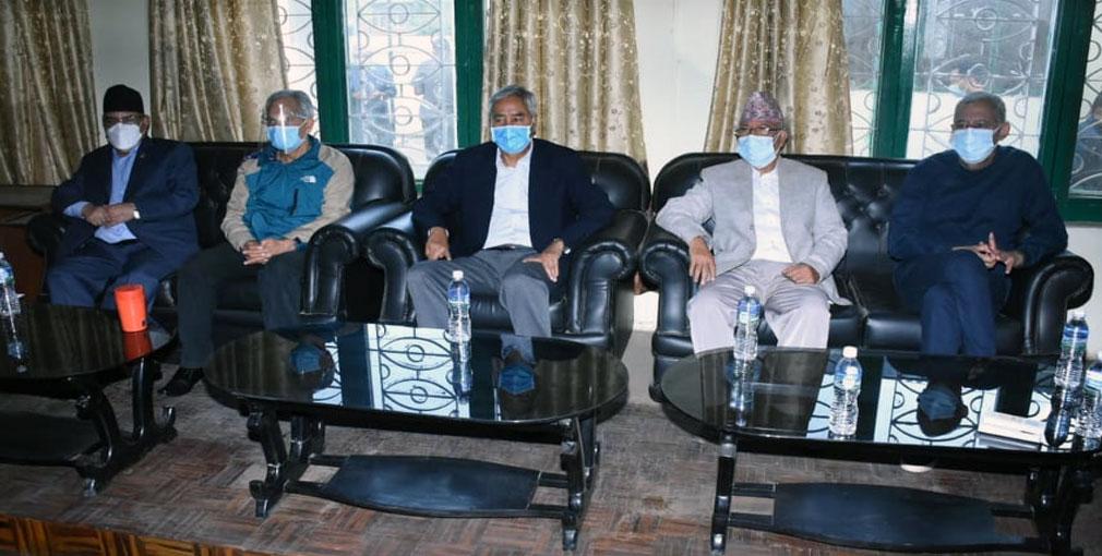 सत्ता गठबन्धनको बैठक बालुवाटारमा जारी, माधव नेपाल पक्षबाट कस्को प्रतिनिधित्व ?