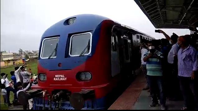आइतबार जनकपुर-जयनगर रेल्वे ट्रयाकको परीक्षण